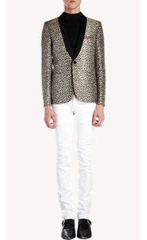 Saint Laurent Leopard-pattern Sportcoat
