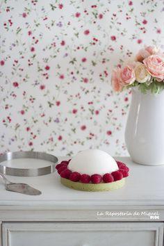 Mousse de Chocolate Blanco y Gelatina de Mermelada de Higo Matcha, Sweet Life, Dressers, Fresh, Cakes, Blog, Fig Jam, Deserts, Pies