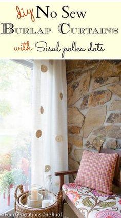 diy no sew burlap curtains