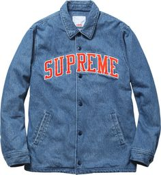 Extensive and varied, the outerwear segment of Supreme's Fall/Winter 2013 collection should offer something for everyone. Levis, Lacoste, Dope Sweaters, Designer Denim Jacket, Supreme Clothing, Denim Jacket Fashion, Types Of Jackets, Lookbook, Vintage Jacket