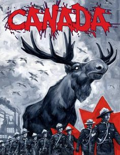 Moose Overlord of Canada Canadian Things, I Am Canadian, Canadian Humour, Canadian History, Funny Canadian Memes, Canada Funny, Canada Eh, Canada Jokes, Canadian Stereotypes