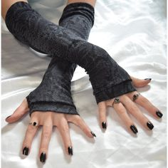 Arm Warmers Fingerless Gloves Arm Warmer sleeves Snake Eyes Gray Black... ($26) ❤ liked on Polyvore featuring accessories, gloves, gothic fingerless gloves, cotton knit gloves, gothic arm warmers, grey gloves and goth fingerless gloves