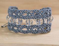 quartz macrame bracelet mode macramé Yoga thérapie cristal Quartz bracelet en macramé bijoux micro macramé porte avec un Jean