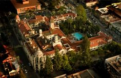 The Mission Inn, Riverside, CA. Arial view. http://www.missioninn.com/