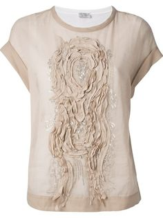 BRUNELLO CUCINELLI Embellished Pattern T-Shirt