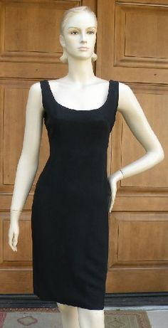 I. Magnin Very Audrey Little Black Dress Simple & Gorgeous 1960's - Found on Ruby Lane