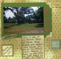 One of My Favorite Places - Scrapbook.com