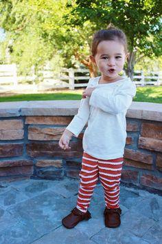 Kindred Oak leggings + @Freshly Picked moccs // toddler style