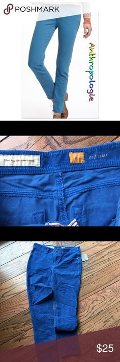 New - anthropologie jean Beautiful blue and super light weight slim jean. Anthropologie Pants