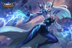 Eudora Model Renovation + New Skin - Lightning Sorceress - News - Mobile Legends: Bang Bang - Mobile - Powered by Discuz! New Mobile, Mobile Game, Fantasy Characters, Female Characters, Dnd Characters, Game Character, Character Design, Lightning Powers, Moba Legends