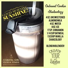 you love oatmeal cookies you will love this Shakeology recipe ! With oatmeal . If you love oatmeal cookies you will love this Shakeology recipe ! With oatmeal . If you love oatmeal cookies you will love this Shakeology recipe ! With oatmeal . Oatmeal Cookie Shakeology, Shakeology Shakes, Beachbody Shakeology, Vanilla Shakeology, Oatmeal Cookies, Vegan Shakeology, 310 Shake Recipes, Herbalife Shake Recipes, Protein Shake Recipes