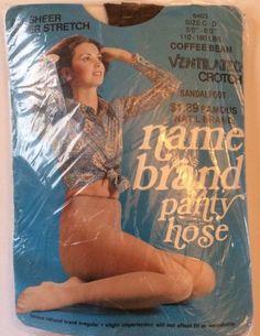 Name Brand Pantyhose Vtg C D Up To 6  Coffee Bean Ventilated Crotch Sheer Sandal   eBay