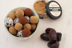 Homemade Delicious Date Balls with Liquorice