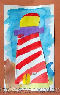 The Light at Tern Rock, lighthouse watercolor idea, Sonlight Core A