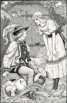 """Frank Cheyne Papé ~ The Story of the Queen of the Gnomes and the True Prince from The Story of the Little Merman by Ethel Reader ~ 1909 ~ via """"Oh, Goblin,"""" she cried, """"where are you? What has happened. Is it you?"""""""