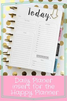 Daily Planer insert for the Happy Planner