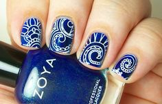 Painted Nubbs: Born Pretty Store Plate QA88 and Zoya Remy