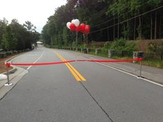 Heart Walk 5k at Stone Mtn Park, they used our stanchions for their finish line. #Atlanta #rental #stanchions #5K #finishline