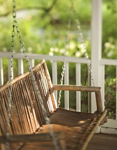 I love porch swings. So relaxing just swinging and taking in all the sights and sounds around you.