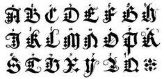 Como fazer letras góticas - Desenhos e exemplos - umComo                                                                                                                                                                                 Mais