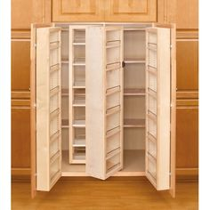 51 Wood Swing-Out Pantry Kit, 2-Wood Swing-Out Pantries and 2-Wood Door Mount Units - Woodworker Express