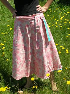 reversible wrap skirt -great to travel with - fast and easy to make :)