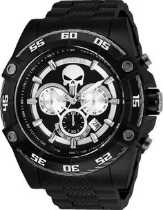 8d87ecc93 Invicta 26862 Marvel Punisher Men's 52mm Chronograph Black-Tone Steel Watch