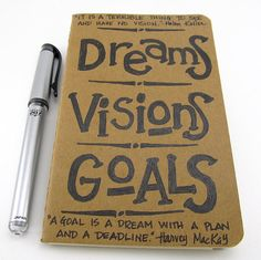 Dreams, Visions, Goals! I need to sit down and start creating this.