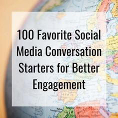 I've spent countless hours coming up with a list of conversation starters that would encourage people to respond to my posts in my social media accounts. Facebook Engagement Posts, Social Media Engagement, Conversation Starter Questions, Conversation Starters, Social Media Content, Social Media Tips, Social Media Marketing Business, Marketing Ideas, Interactive Facebook Posts