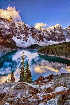 Moraine Lake, Valley of the Ten Peaks  Moraine Lake is a glacially-fed lake in Banff National Park, 14 kilometres (8.7 mi) outside the Village of Lake Louise, Alberta, Canada. It is situated in the Valley of the Ten Peaks, at an elevation of approximately 6,183 feet (1,885 m). The lake has a surface area of .5 square kilometres (0.19 sq mi).