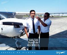 Felicitamos a nuestro alumno Bryan Pulla por haber realizado su primer vuelo solo!   Quieres ser Piloto?   Invierte bien tu dinero, compara nuestros COSTOS y analiza nuestra EXPERIENCIA.   Información: info@skyecuador.com 04 600 8250 o (0969063172 solo WhatsApp) www.skyecuador.com.    Charlas permanentes de Lunes a Viernes de 9 am a 5 pm. Bienvenido!!