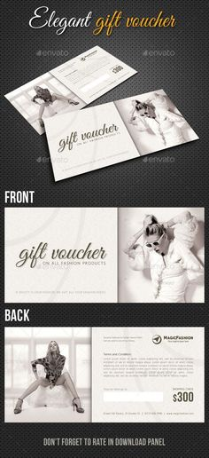 Elegant Gift Voucher Template PSD. Download here : http://graphicriver.net/item/elegant-gift-voucher-v01/10410966?s_rank=1786&ref=yinkira