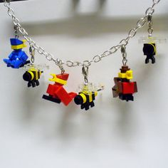 LEGO Birds and Bees Charm Bracelet. $35.00, via Etsy.