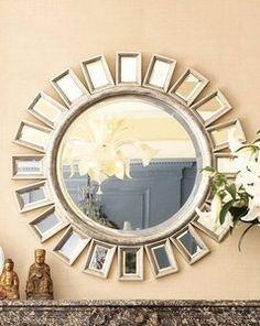 Brilliant Sunburst / Starburst Wall Mirror Extra Large Mirrored Rays Silver Luxe