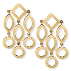 Cassandra Goad Temple of Heaven 9K Yellow Gold Girandole Earrings as seen on Kate Middleton