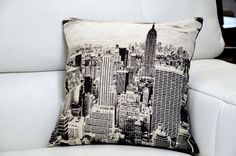 Cushions : Urban City Scape Cushions - Set of 1, 2 or 4