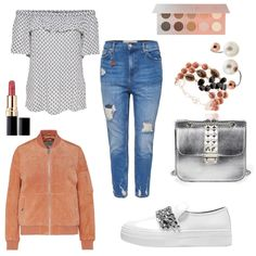 Carmen Bluse - #ootd #outfit #fashion #oneoutfitperday #fashionblogger #fashionbloggerde #frauenoutfit #herbstoutfit - Frauen Outfit Frühlings Outfit Herbst Outfit Outfit des Tages Alba Moda Aldo Bruè Armband Blau Bluse Chanel David Aubrey Lederjacke Lippenstift Obey Ohrstecker ONLY roségold rot Silber Skagen Slipper Tasche weiss ZOEVA