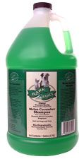 Bark 2 Basics Melon Cucumber Pet Shampoo (Dilutes 16:1)    Melon Cucumber Shampoo is a gentle all-purpose, deep cleaning shampoo specially formulated for professional groomers for maximum cost efficiency. Melon Cucumber Shampoo produces a rich, thick lather that deep cleans without drying yet is mild enough to use on pets of all ages. It rinses easily and leaves coats luxurious, healthy and shiny. Pleasant Melon Cucumber fragrance. pH balanced for pets skin.