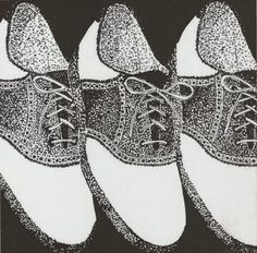 stippled shoes  Not my art, but I love it and would love to do something similar!!!