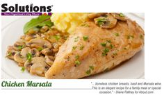 Chicken Marsala - Recipes fom Solutions - Your Organized Living Store