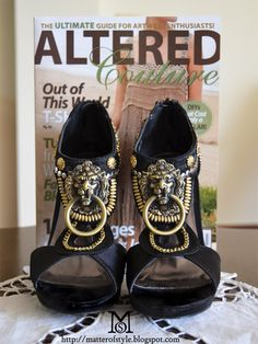 altered couture magazine DIY SHOES  Now THESE make a statement! I cannot wait to be able to wear heels once more!