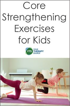 There are many benefits and ways of encouraging core strengthening exercises for kids through play and fitness workouts. Motor Skills Activities, Gross Motor Skills, Core Strengthening, Pediatric Occupational Therapy, Physical Therapist, Exercise For Kids, Fitness Workouts, Speech And Language, Speech Therapy