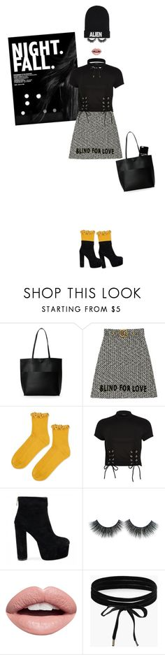 """""""""""Everyone is a moon, and has a dark side which he never shows to anybody."""" - Mark Twain -"""" by ronnie-nemo ❤ liked on Polyvore featuring Street Level, Gucci, Topshop, River Island, Nevermind, Boohoo and Nicopanda"""