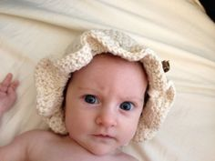 Soft Crochet Hat - Oatmeal - 6 months