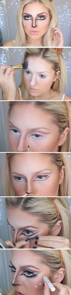 Bambi   Click Pic for 26 DIY Halloween Makeup Ideas for Women   DIY Halloween Dress Up Ideas for Adults