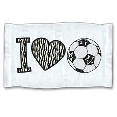 Zebra pattern soccer sweat towel!