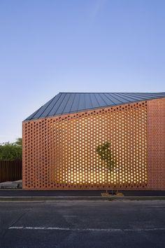 Unique perforated brick design. Xk #kellywearstler