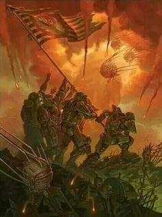 Brotherhood of Steel Raising the Flag by Chris Seaman Fallout Lore, Fallout Fan Art, Fallout Concept Art, Fallout Vault, Fallout Brotherhood Of Steel, Fallout Power Armor, Fallout Wallpaper, Fallout Posters, Arte Zombie