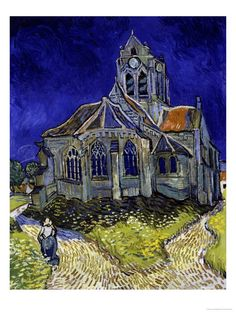 The Church in Auvers-Sur-Oise, 1890. Vincent Van Gogh. This is my current background image on my iPad.