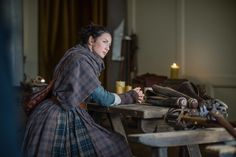"""HQ photo of Claire in """"Dragonfly in Amber""""."""
